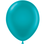 metallic teal latex balloons