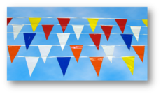 All styles and colors of pennant streamers